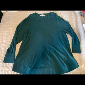 Dark green, LOFT, light weight sweater